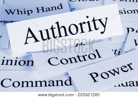 Authority Concept - A Conceptual Look At Authority, Control, Power, Command, Having The Whip Hand,