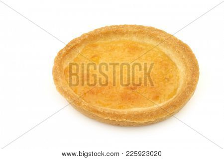 one filled marmalade cake on a white background