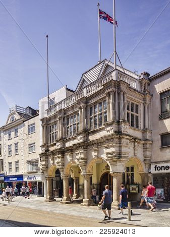 21 June 2017: Exeter, Devon, England, Uk - The Guildhall In High Street Exeter