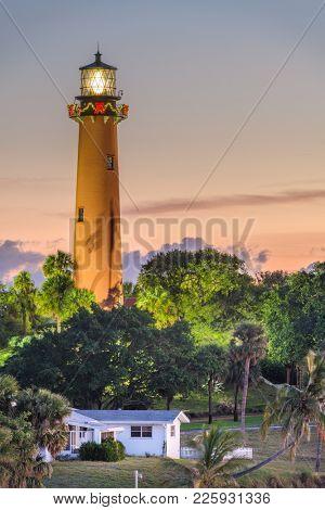 Jupiter, Florida, USA at Jupiter Inlet Light.