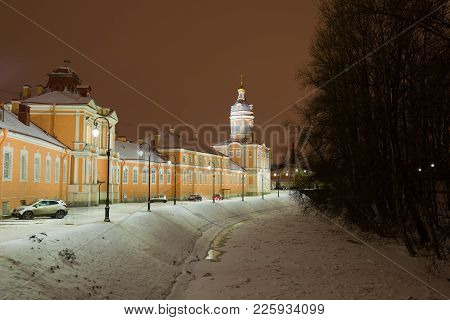 Saint Petersburg, Russia - January 18, 2018: The Monastery River And The Vestry Of The Alexander Nev