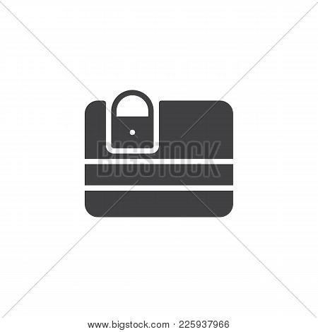 Credit Card Security Icon Vector, Filled Flat Sign, Solid Pictogram Isolated On White. Debit Card Wi