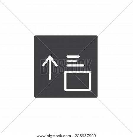 Package Box With Side Up Handling Label Icon Vector, Filled Flat Sign, Solid Pictogram Isolated On W