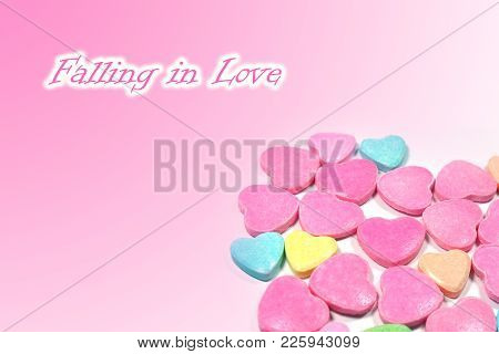 Abstract Love Candy For Falling In Love Concept