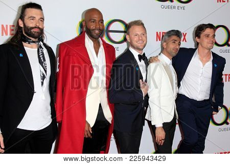 LOS ANGELES - FEB 7: Jonathan Van Ness, Karamo Brown, Bobby Berk, Tan France, Atoni Porowski at the