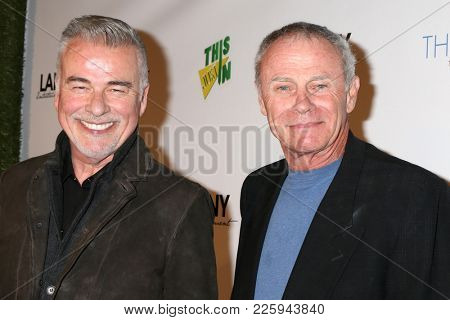 LOS ANGELES - FEB 6:  Ian Buchanan, Tristan Rogers at the 7th Annual  LANY Entertainment Mixer at 33 Taps Hollywood  on February 6, 2018 in Los Angeles, CA