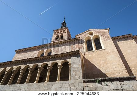 Views Of The Church Of San Martin, Segovia, Spain. It Was Built In The 12th Century, Mozarab In Orig