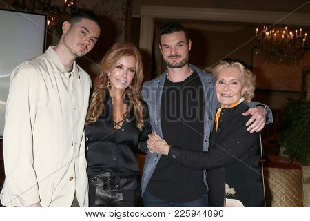 LOS ANGELES - FEB 2:  Landon Recht, Tracey Bregman, Austin Recht, Suzanne Lloyd at the Tracey Bregman 35th Anniversary on YnR at CBS TV City on February 2, 2018 in Los Angeles, CA