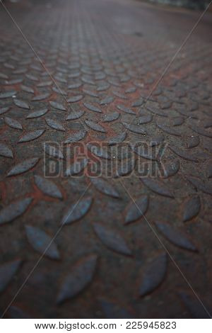 Old Checker Plate / Diamond Plate Metal Background