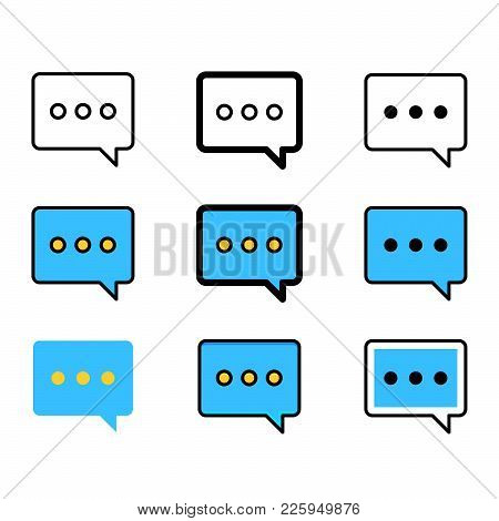 Set Of Speech Bubbles Icons. Chat Message Icons