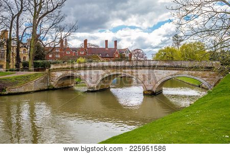 A Beautiful Punting Location On River Cam, Cambridge, Cambridgeshire, United Kingdom