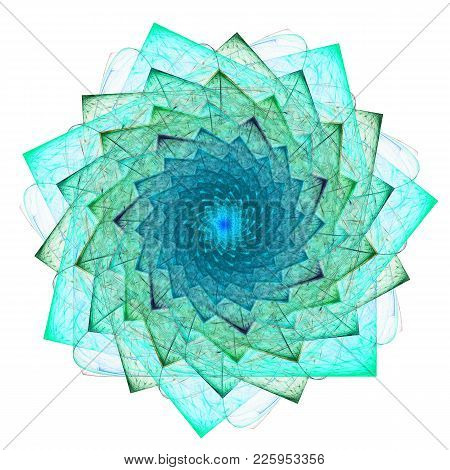 Cabbalistic Star. Rotation Of Polygons. 3d Surreal Illustration. Sacred Geometry. Mysterious Psyched