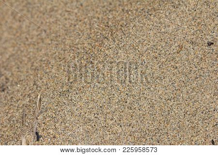 Sand As Background . Photo Of An Abstract Texture