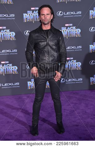 LOS ANGELES - JAN 29:  Walton Goggins arrives for the 'Black Panther' World Premiere on January 29, 2018 in Hollywood, CA