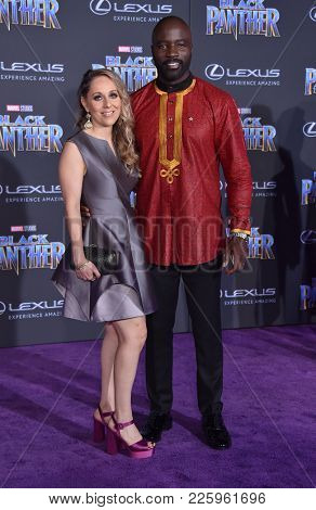 LOS ANGELES - JAN 29:  Mike Colter arrives for the 'Black Panther' World Premiere on January 29, 2018 in Hollywood, CA