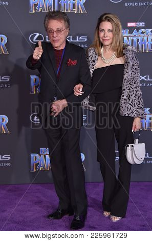 LOS ANGELES - JAN 29:  Frankie Valli and Jackie Jacobson arrives for the 'Black Panther' World Premiere on January 29, 2018 in Hollywood, CA