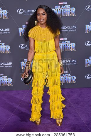 LOS ANGELES - JAN 29:  Angela Bassett arrives for the 'Black Panther' World Premiere on January 29, 2018 in Hollywood, CA
