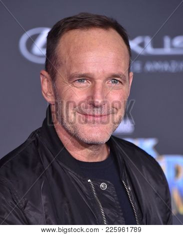 LOS ANGELES - JAN 29:  Clark Gregg arrives for the 'Black Panther' World Premiere on January 29, 2018 in Hollywood, CA