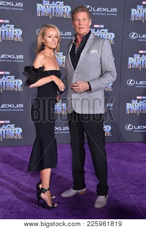 LOS ANGELES - JAN 29:  David Hasselhoff arrives for the 'Black Panther' World Premiere on January 29, 2018 in Hollywood, CA