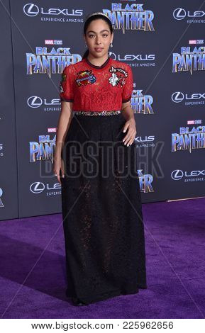 LOS ANGELES - JAN 29:  Allegra Acosta arrives for the 'Black Panther' World Premiere on January 29, 2018 in Hollywood, CA