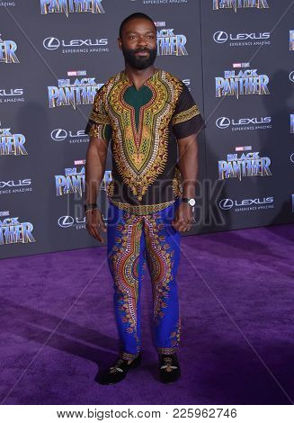 LOS ANGELES - JAN 29:  David Oyelowo arrives for the 'Black Panther' World Premiere on January 29, 2018 in Hollywood, CA