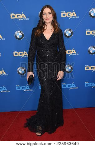 LOS ANGELES - FEB 03:  Saffron Burrows arrives for the 2018 Director Guild Awards on February 3, 2018 in Beverly Hills, CA