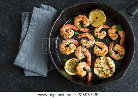 Roasted Shrimps With Lemon And Garlic