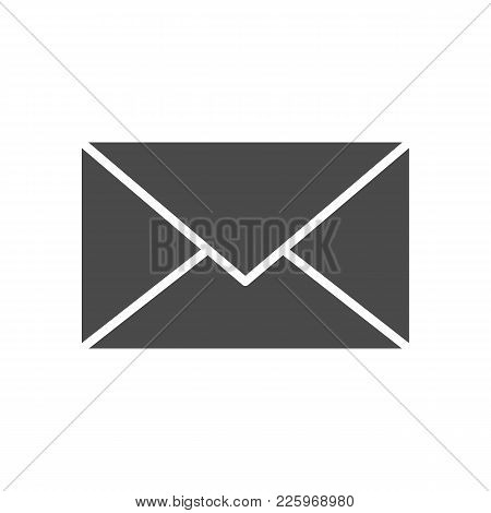 Mail Solid Icon. Vector Illustration Of Flat Web Glyph.