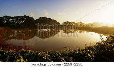 Pond At Dawn In The Valley Of Vinales In Cuba