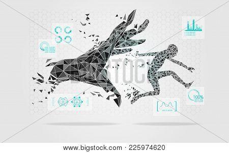 Abstract Graphic Of Revolution Theme, Concept Of Technology Development