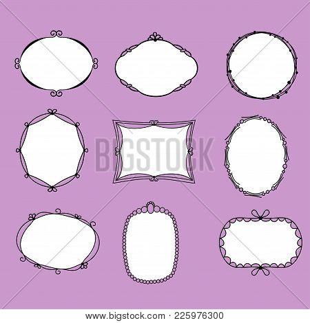 Doodle Vector Frames, Handmade Frames, Vintage Frame