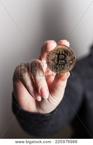 Digitall Symbol Of A New Virtual Currency