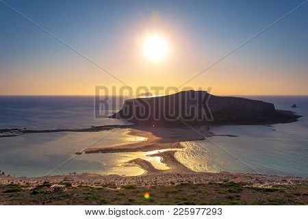 Amazing View Of Balos Lagoon With Magical Turquoise Waters, Lagoons, Tropical Beaches Of Pure White