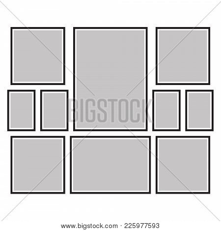Vector Frame For Photos And Pictures, Photo Collage, Photo Puzzle
