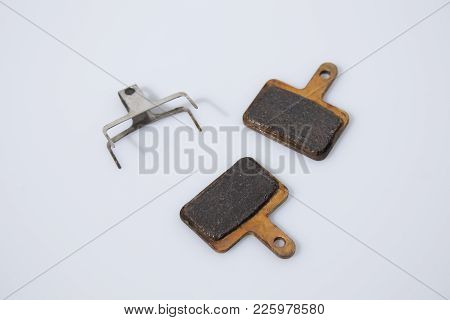 Brake Pads In A White Background Composition