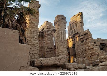 Luxor, Egypt - November 13, 2006: Ancient Ruins Of Karnak Temple