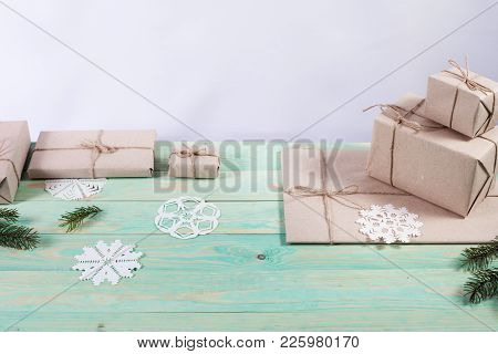 New Year's Gifts In Kraft Paper