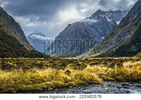 River In Fiordland National Park, New Zealand Southland