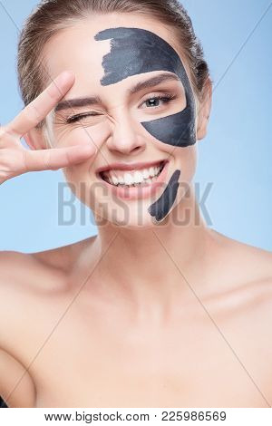 Smiling Girl With Mask