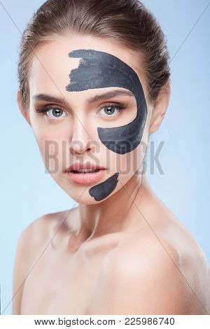 Woman With Mask On Skin