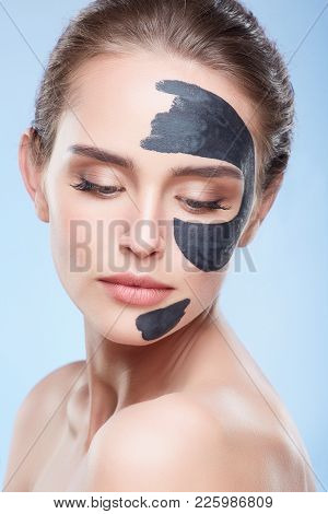Model With Mask On Skin