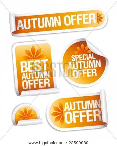 Best autumn offers stickers set.