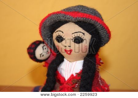 peruvian doll doll peru mother and child doll andean dolls traditional shapes chola and cholito poster