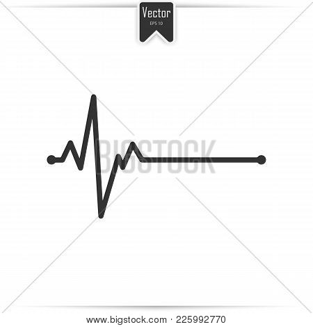 Electrocardiogram, Heart Beat, Ecg Or Ekg - Medical Icon