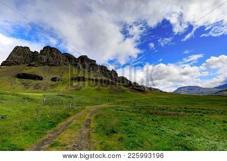 Impressive Icelandic Mountain Landscape, Late Summer, Vesturland, Iceland