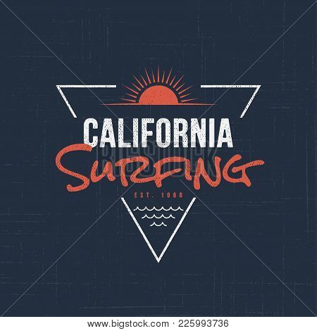 California Sufing. T-shirt And Apparel Vector Design, Typography, Print, Logo, Label, Poster Global