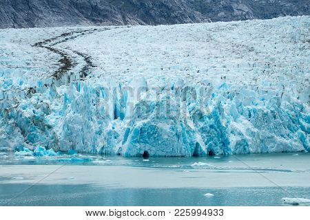 Sawyer Glacier In Tracy Arm Alaska Fjords Near Ketchikan Alaska
