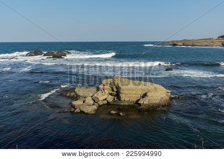 Seascape With Bird Island Near Town Of Tsarevo, Burgas Region, Bulgaria