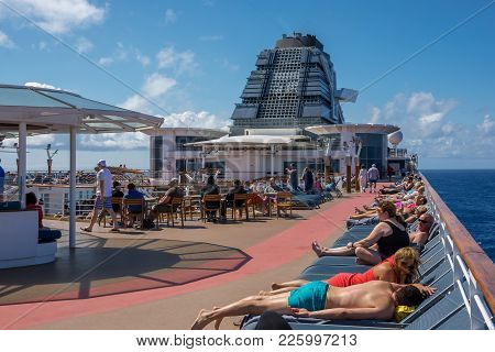 North Atlantic, Ocean - May 23 - Passengers Relax Aboard The Celebrity Summit Cruise Ship On May 23