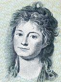 Engelke Charlotte Ryberg portrait from Danish money poster